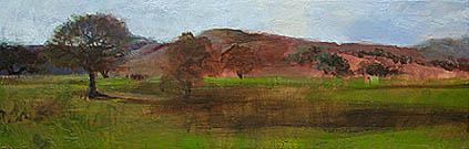 18 x 6 - Acrylic, Pacheco Pass, CA