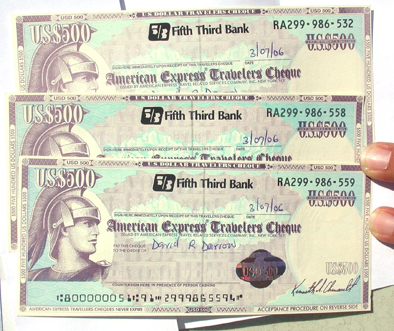 travellers cheque meaning