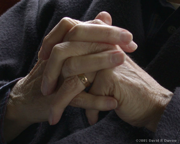 The hands of Robert A. Darrow, my father, who died June 27, 2005