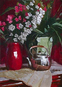 Still Life with Silver Teapot